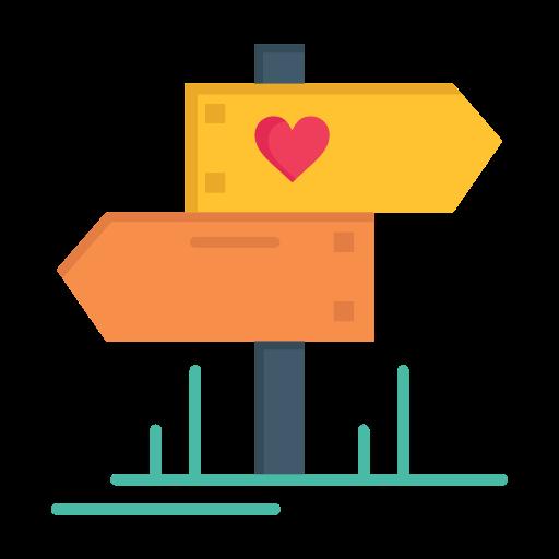 Day, dierection, heart, love, valentine, valentines, wedding icon - Free download