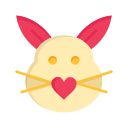 bunny, cute, day, easter, love, rabbit, valentine, valentines icon