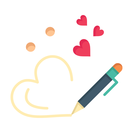 day, heart, love, pen, valentine, valentines, wedding icon