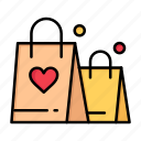 day, handbag, heart, love, valentine, valentines, wedding icon