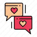 chat, day, heart, love, valentine, valentines, wedding icon