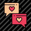 chat, day, heart, love, valentine, valentines, wedding