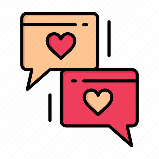 chat, day, heart, love, valentine, valentines, wedding icon