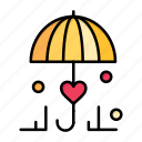 day, insurance, love, secure, umbrella, valentine, valentines icon