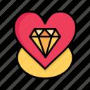 day, diamond, heart, love, valentine, valentines, wedding