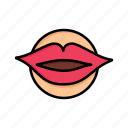 beauty, day, face, lips, love, mouth, valentine, valentines icon