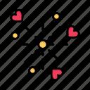 celebration, day, fireworks, heart, love, valentine, valentines