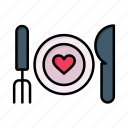 couple, food, romantic, valentines, love, dinner, day, valentine, date icon