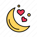 day, love, moon, night, romantic, valentine, valentines