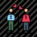 boy, couple, day, girl, love, men, valentine, valentines, women icon