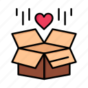 box, day, delivery, gift, love, surprize, valentine, valentines icon
