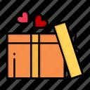 day, gift, heart, love, valentine, valentines, wedding icon