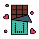 chocolate, day, food, love, sweet, valentine, valentines icon