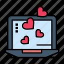 day, heart, laptop, love, valentine, valentines, wedding