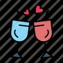 day, drink, glass, love, valentine, valentines, wedding