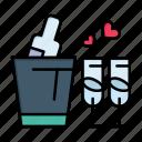 bottle, day, glass, love, valentine, valentines, wedding