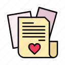 day, file, heart, love, valentine, valentines, wedding icon