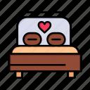 bed, day, heart, love, valentine, valentines, wedding