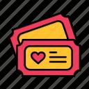 day, heart, love, tecket, valentine, valentines, wedding