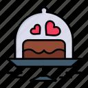 cake, day, love, plate, valentine, valentines, wedding