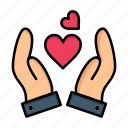 day, hand, heart, love, valentine, valentines, wedding icon