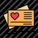 card, day, heart, love, valentine, valentines, wedding icon