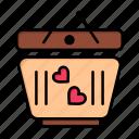 cart, day, heart, love, valentine, valentines, wedding