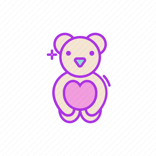 bear, cute, fuzzy, heart, love, teddy, valentine icon
