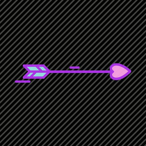 arrow, cupidon, direction, heart, love, shoot icon