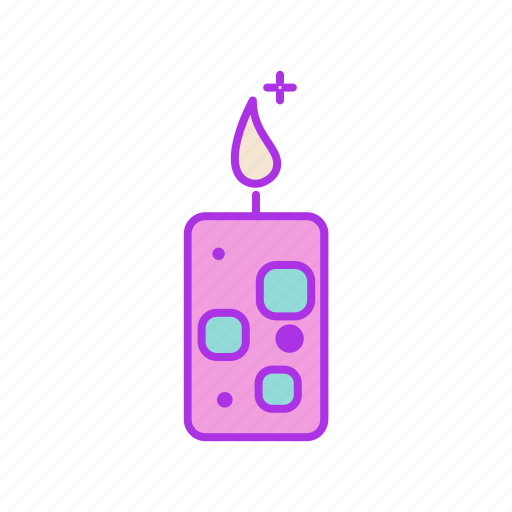 candle, festive, flame, holiday, light, valentine icon
