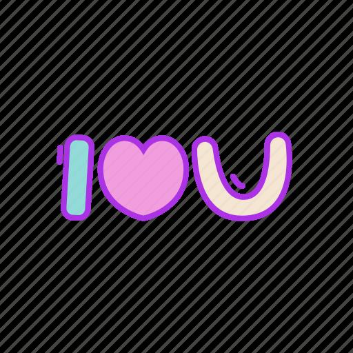 heart, i, love, message, valentine, you icon