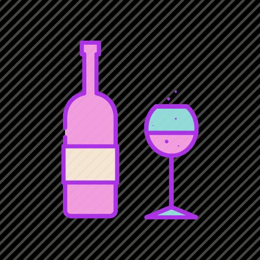 alcohol, beverage, drink, glass, grap, valentine, wine icon