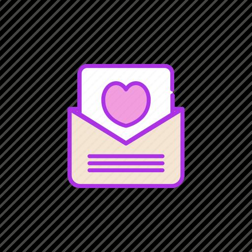 heart, love, mail, message, post, valentine icon