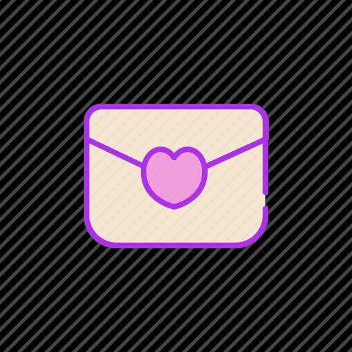 heart, love, mail, message, post, send, valentine icon