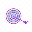 aim, arrow, destination, love, target, valentine icon