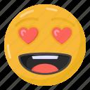 emoticon, smiley, heart eyes emoji, lovely emoji, emoji
