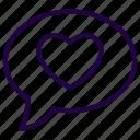bubble, chat, love, talk, valentine