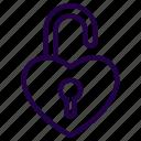 lock, pad, padlock, unlock, valentine