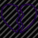 broken, heart, love, valentine