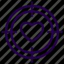 goal, love, target, valentine icon