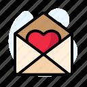 envelope, heart, open, pink, red, valentine