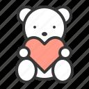 doll, dolly, teddy bear, valentine icon