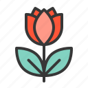 floral, flower, rose, valentine icon