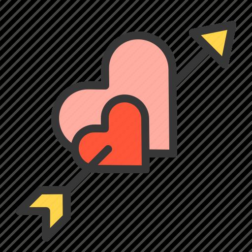 heart, love, love arrow, valentine icon
