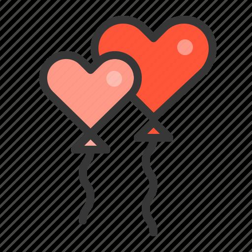 balloon, love, love balloon, valentine icon
