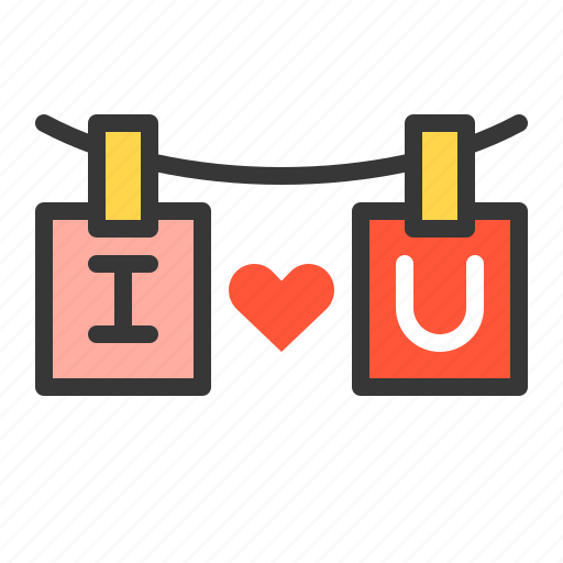 i love you, love, sign, valentine icon