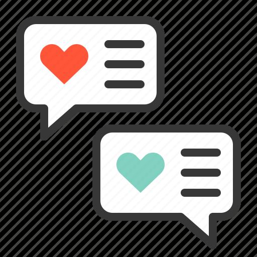 chat, love, love message, valentine icon