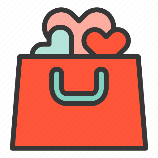 keep love, love bag, valentine icon