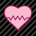 beat, heart, love, valentine icon