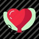 ballon, heart, pink, red, valentine